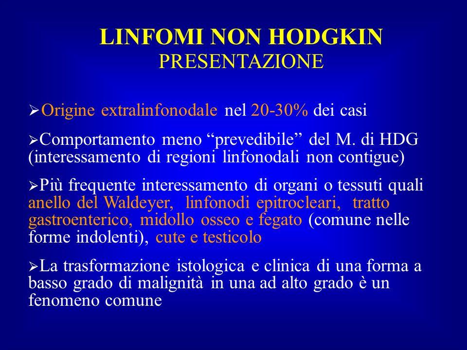 LINFOMI NON HODGKIN PRESENTAZIONE