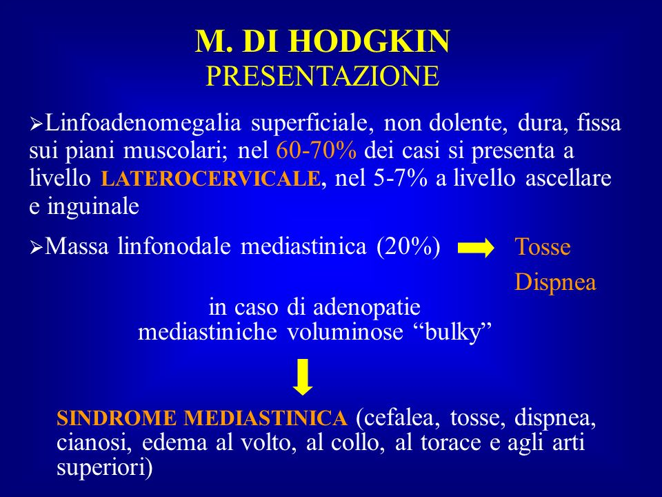 in caso di adenopatie mediastiniche voluminose bulky