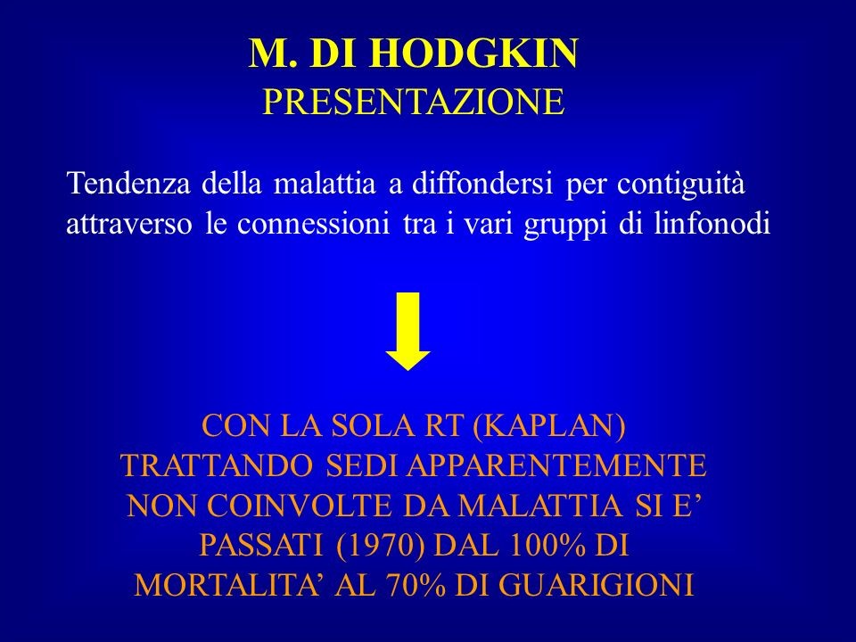 M. DI HODGKIN PRESENTAZIONE