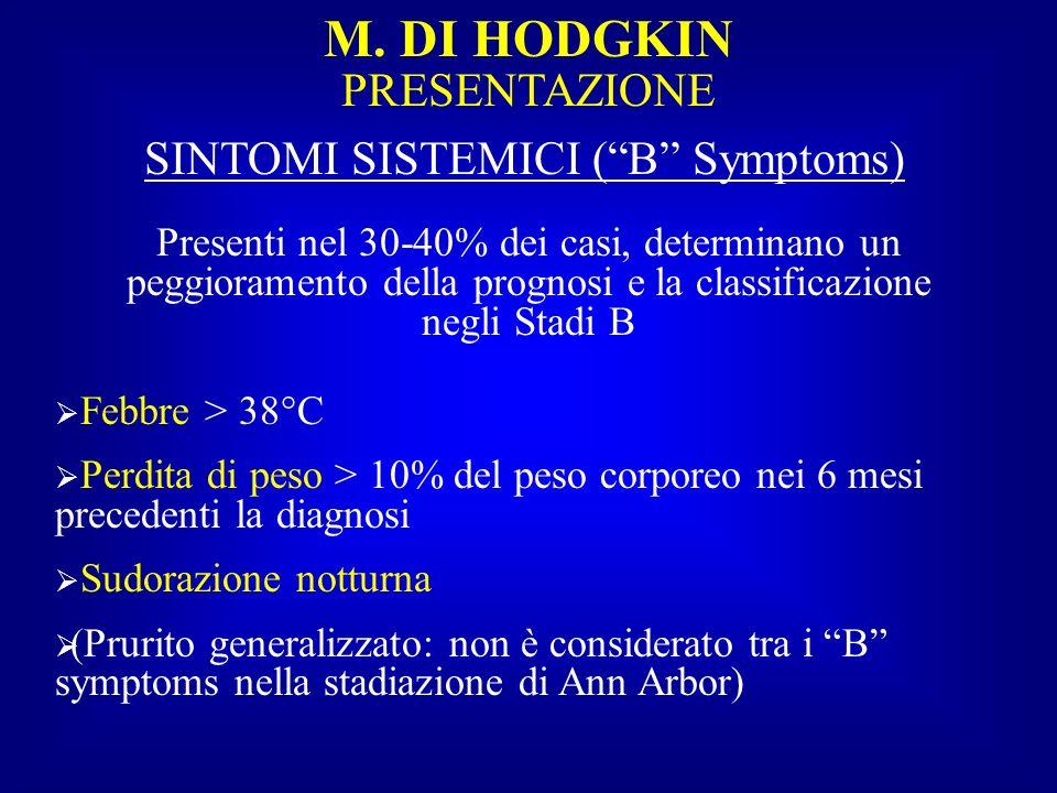 SINTOMI SISTEMICI ( B Symptoms)