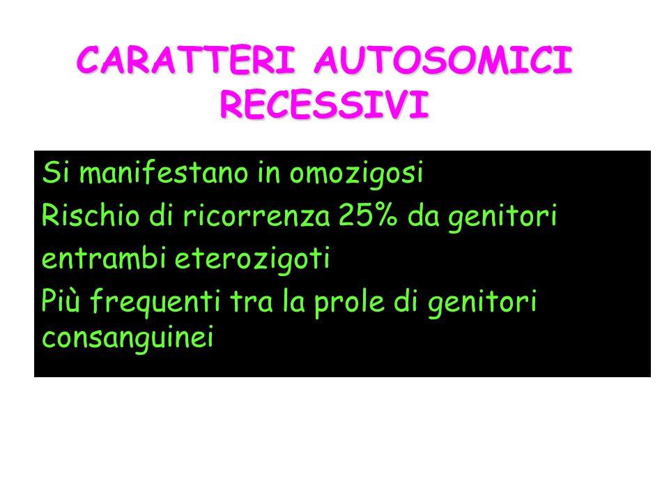 CARATTERI AUTOSOMICI RECESSIVI