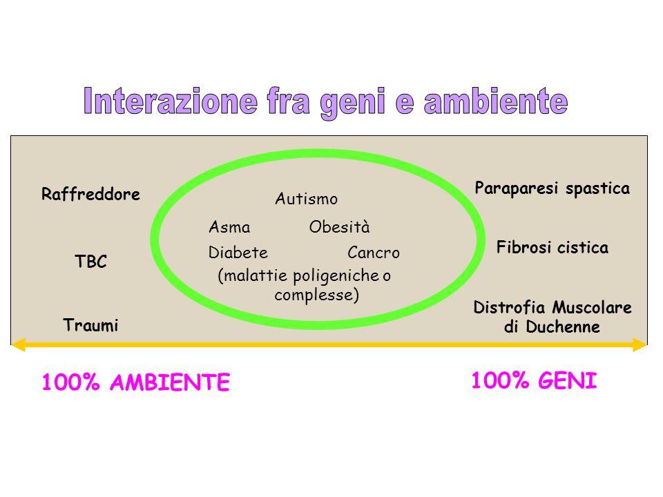 Interazione fra geni e ambiente Distrofia Muscolare di Duchenne