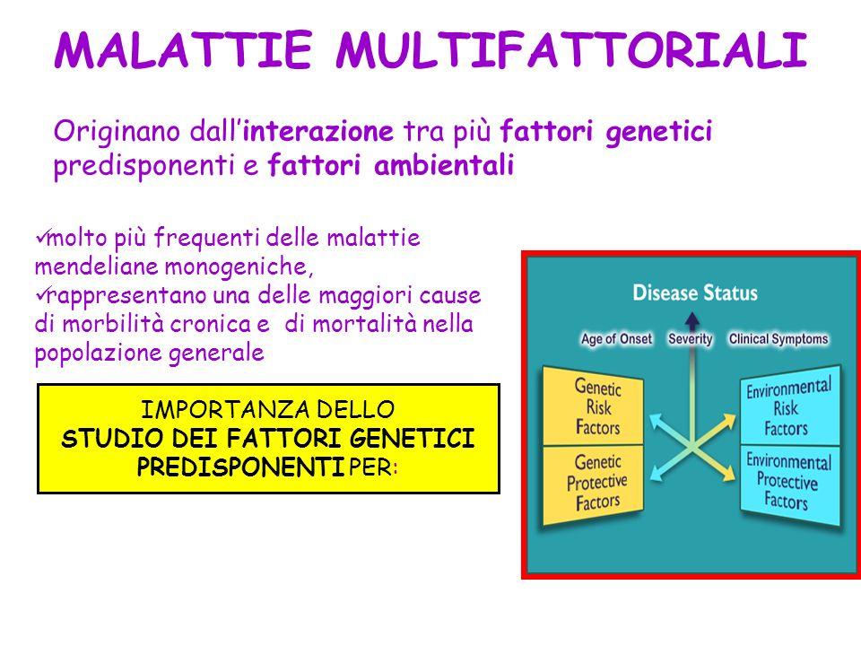 STUDIO DEI FATTORI GENETICI PREDISPONENTI PER: