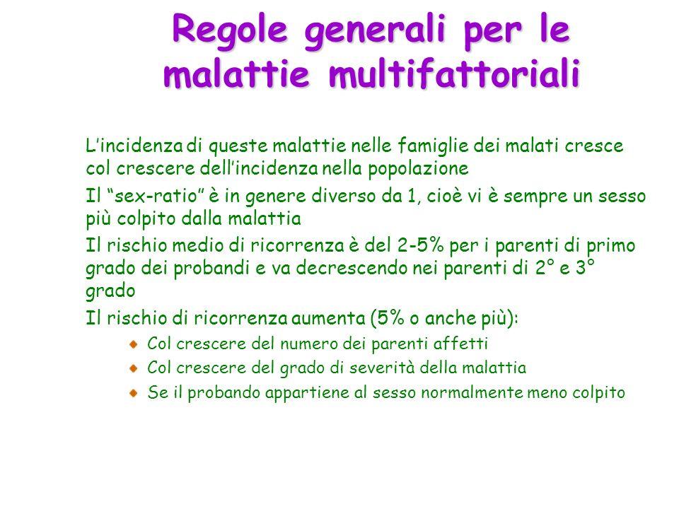 Regole generali per le malattie multifattoriali