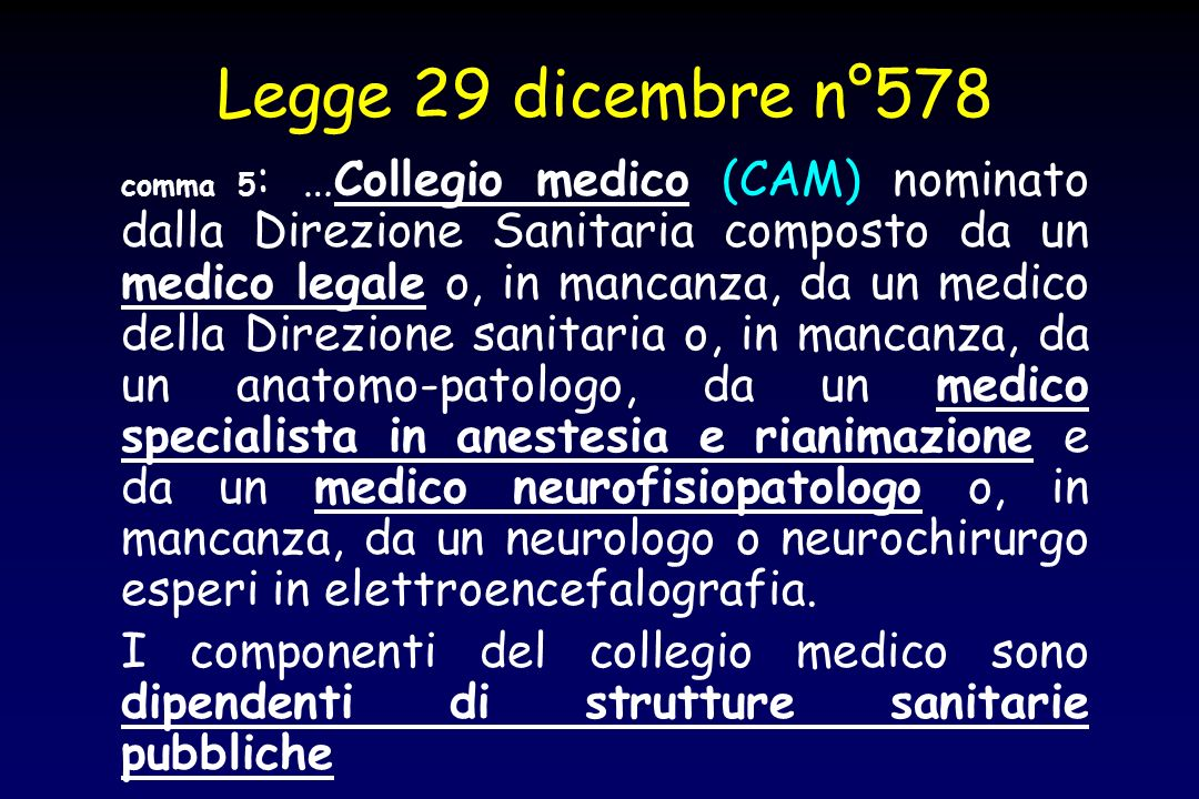 Legge 29 dicembre n°578