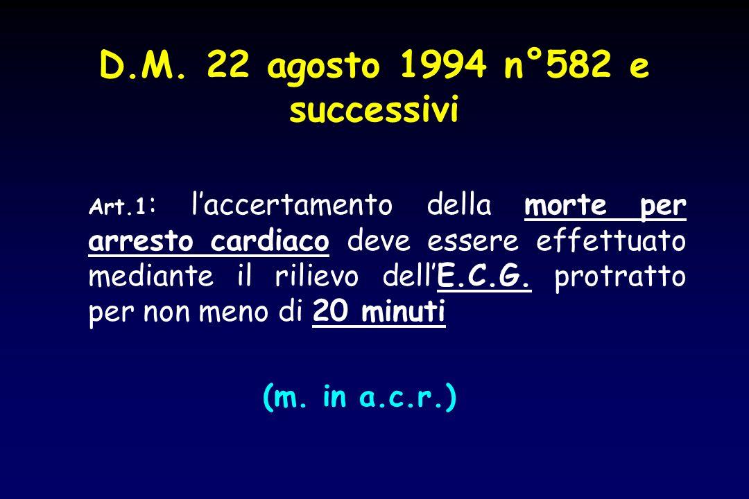 D.M. 22 agosto 1994 n°582 e successivi