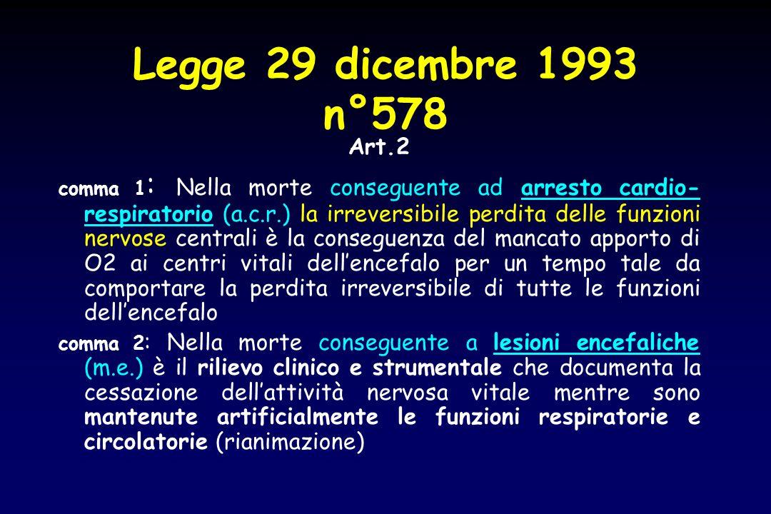Legge 29 dicembre 1993 n°578 Art.2.
