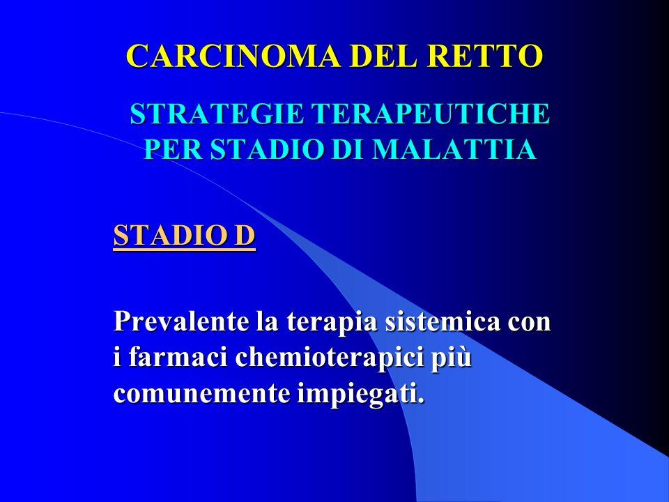 STRATEGIE TERAPEUTICHE PER STADIO DI MALATTIA