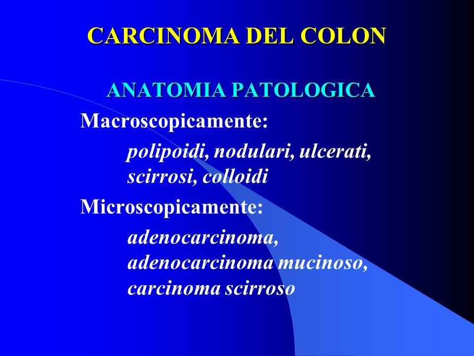 CARCINOMA DEL COLON ANATOMIA PATOLOGICA Macroscopicamente: