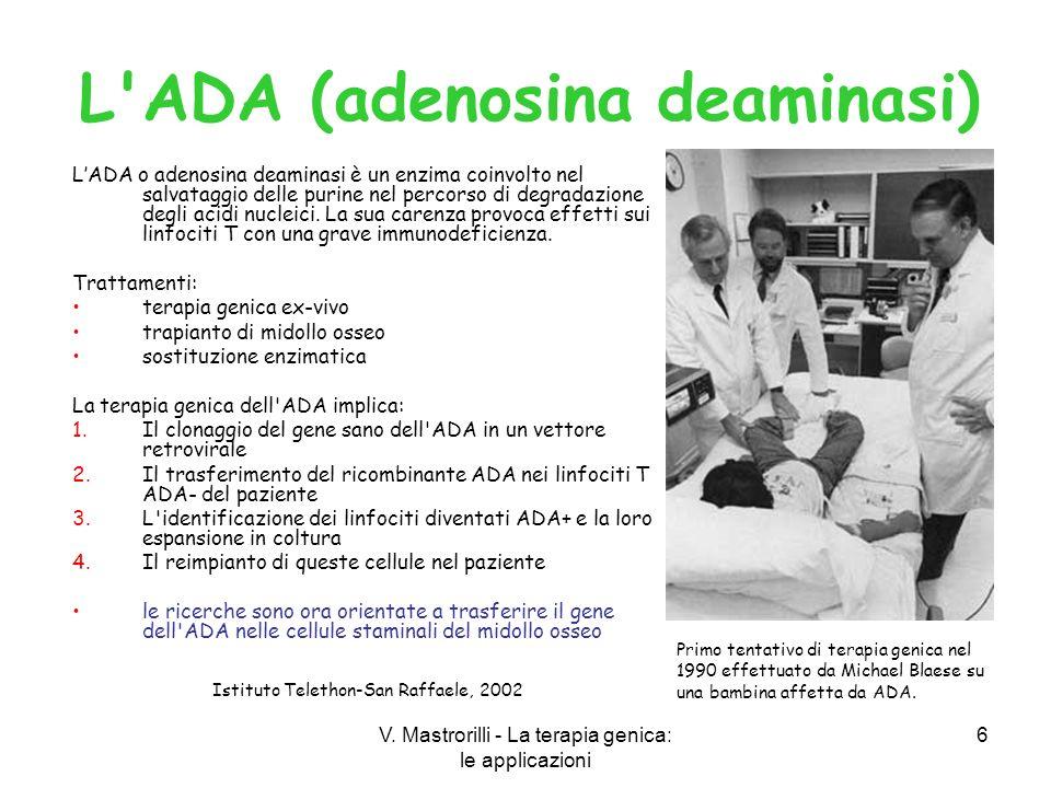 L ADA (adenosina deaminasi)