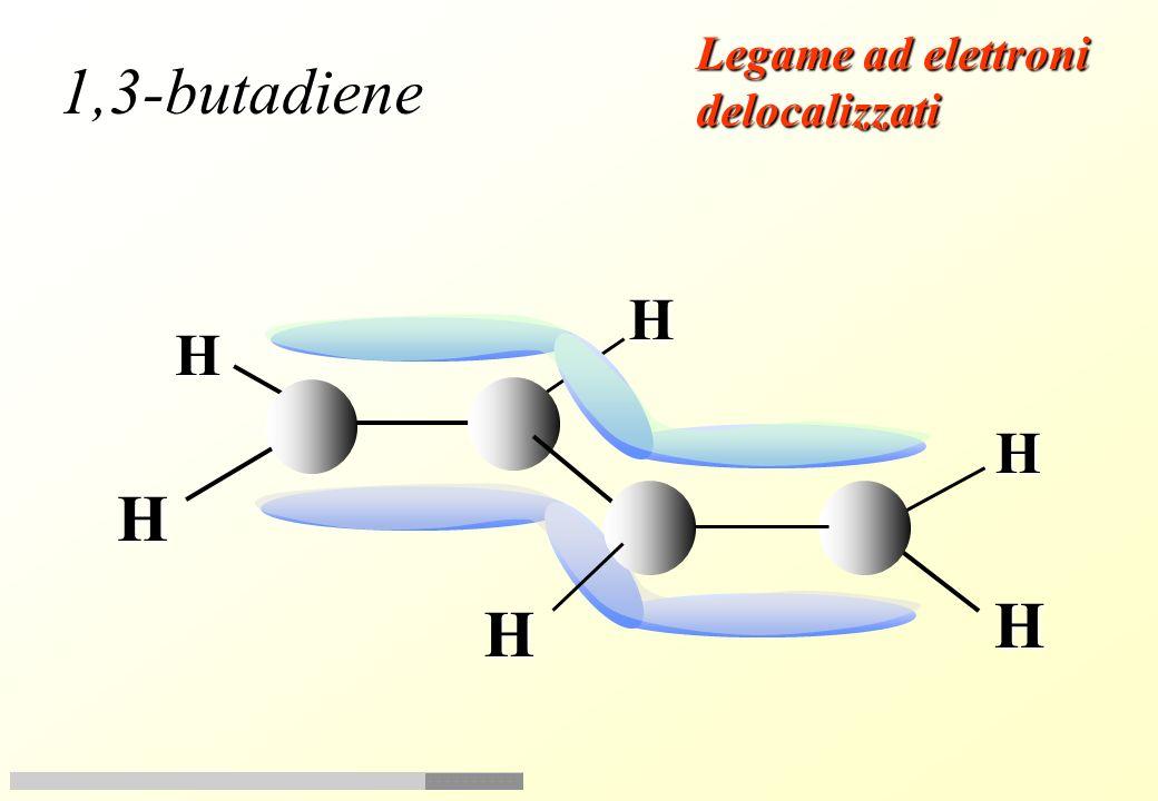 Legame ad elettroni delocalizzati 1,3-butadiene H