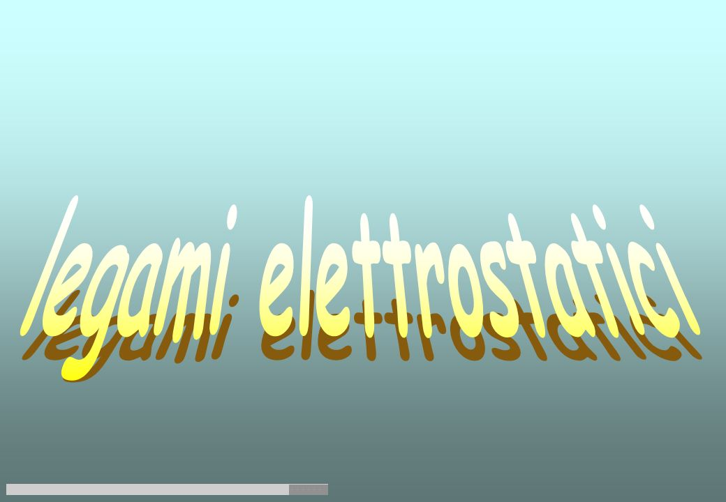 legami elettrostatici