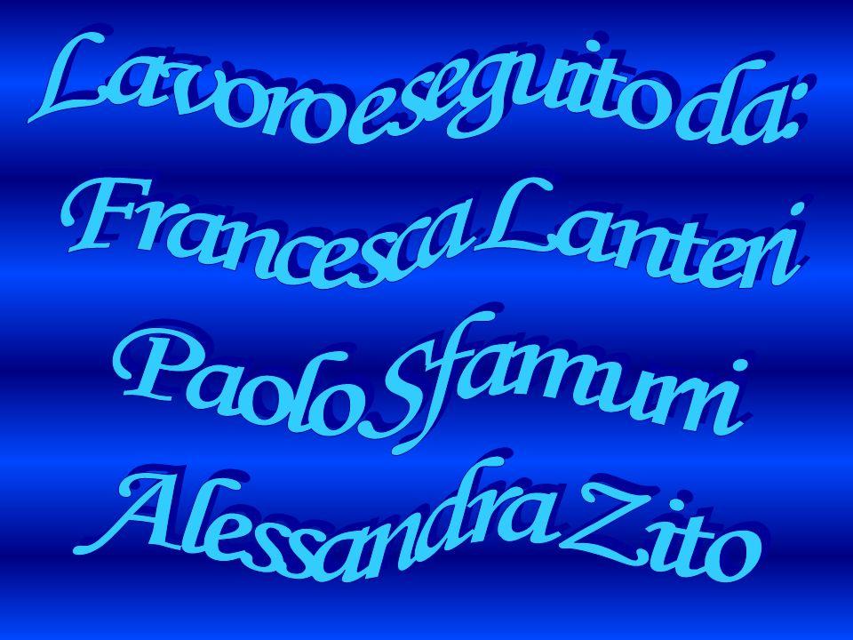 Lavoro eseguito da: Francesca Lanteri Paolo Sfamurri Alessandra Zito