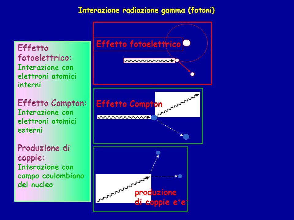 Interazione radiazione gamma (fotoni)