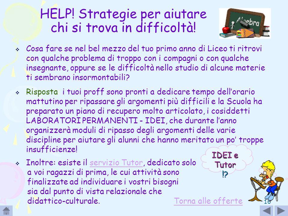 HELP! Strategie per aiutare chi si trova in difficoltà!