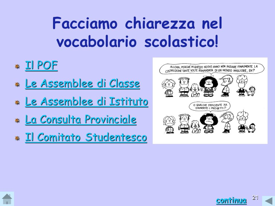 Facciamo chiarezza nel vocabolario scolastico!