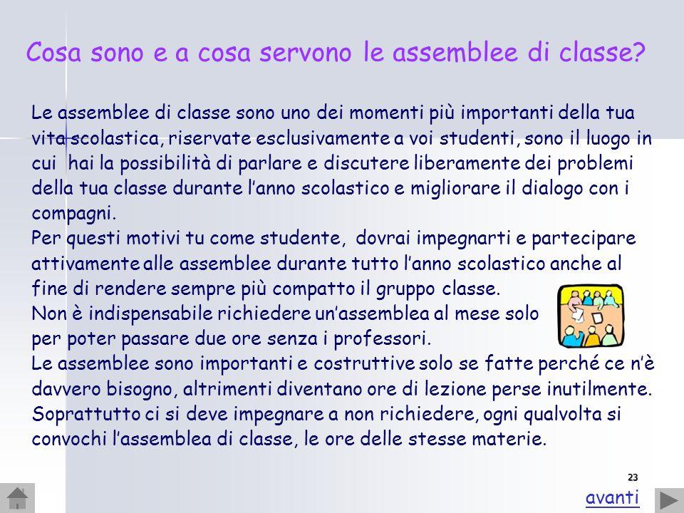 Cosa sono e a cosa servono le assemblee di classe