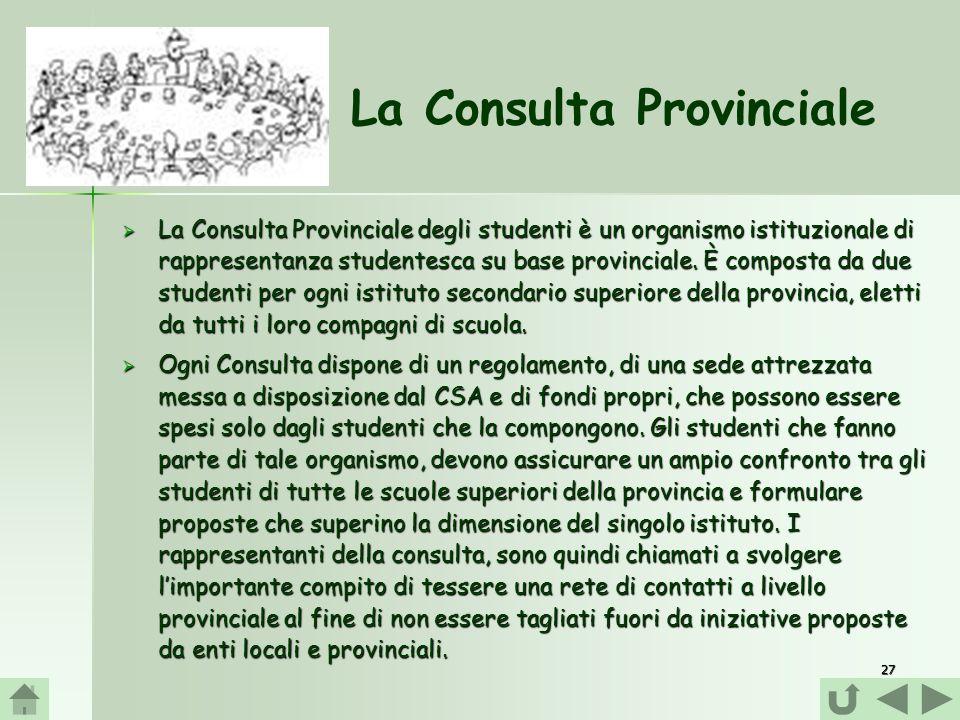 La Consulta Provinciale