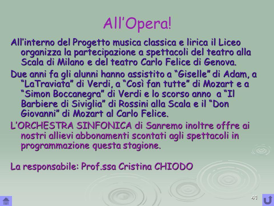 All'Opera!