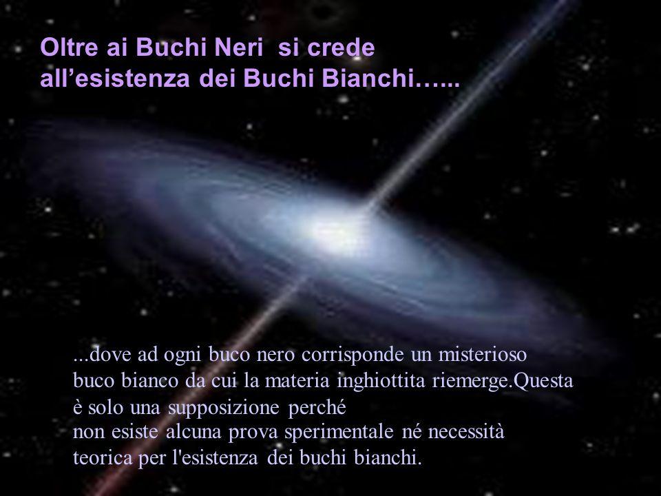 Oltre ai Buchi Neri si crede all'esistenza dei Buchi Bianchi…...