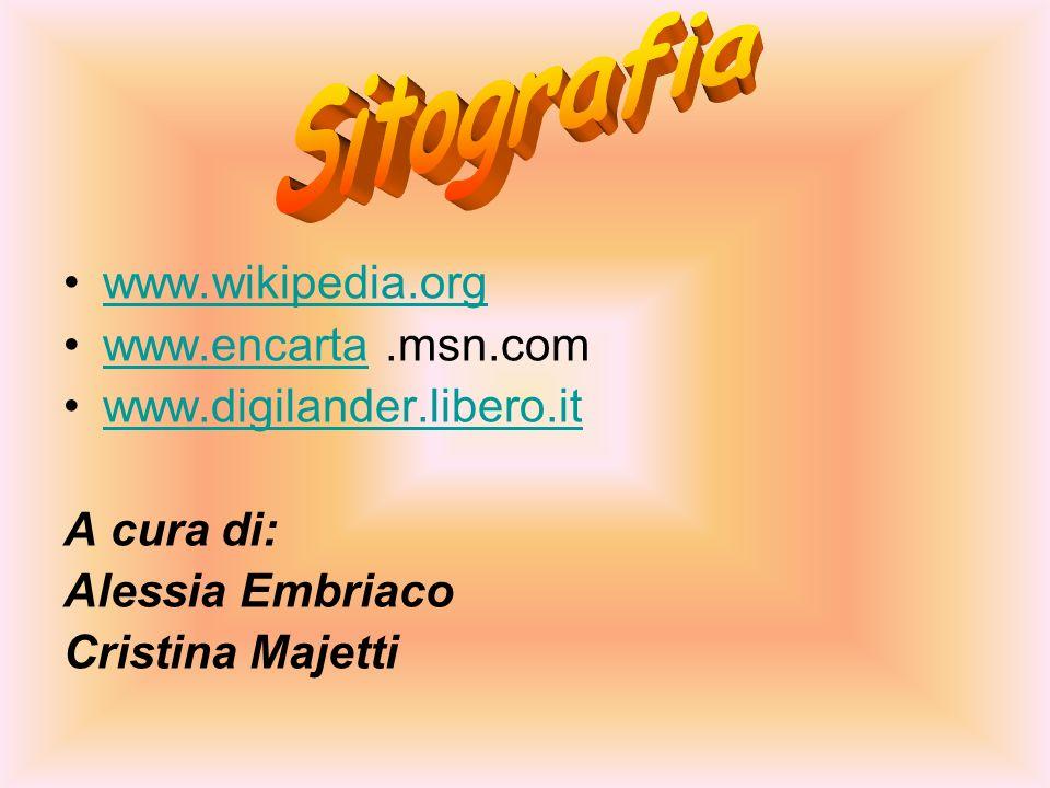 Sitografia www.wikipedia.org www.encarta .msn.com