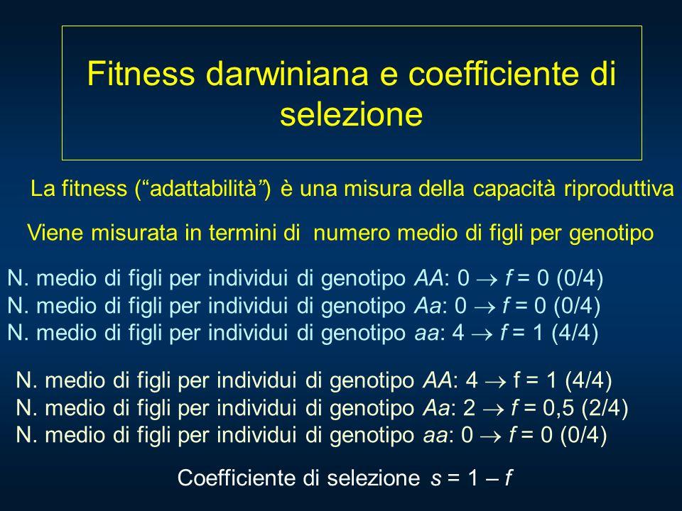 Fitness darwiniana e coefficiente di selezione