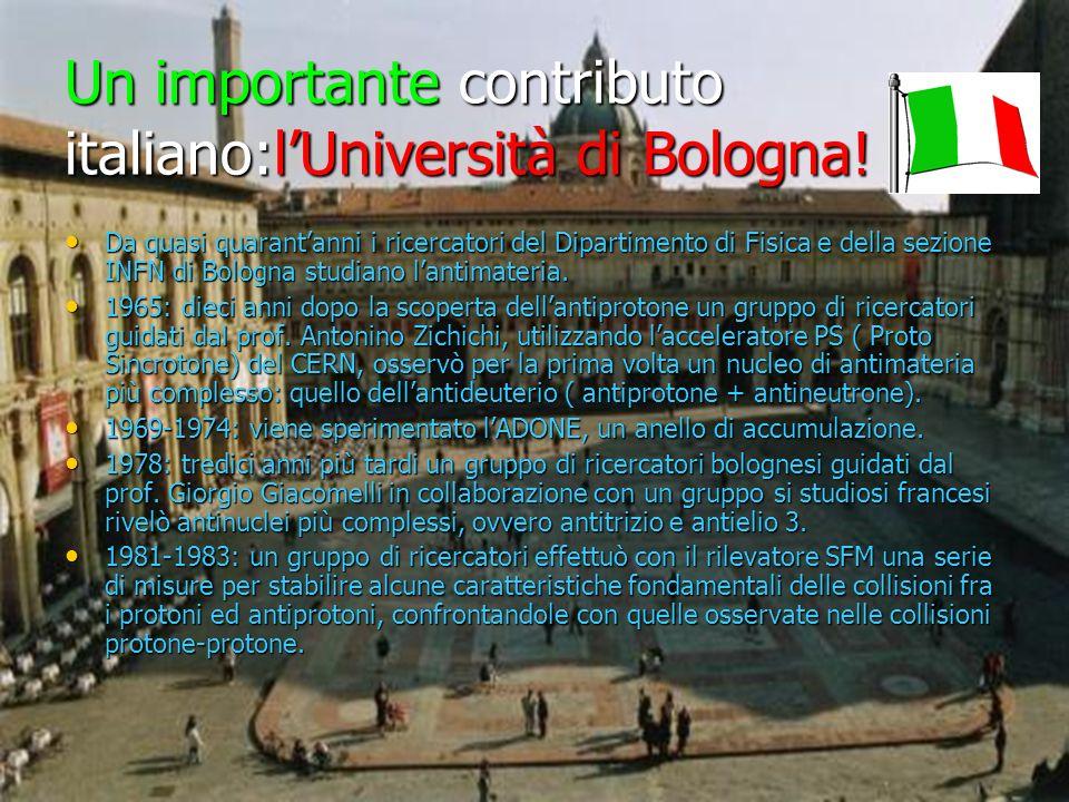 Un importante contributo italiano:l'Università di Bologna!