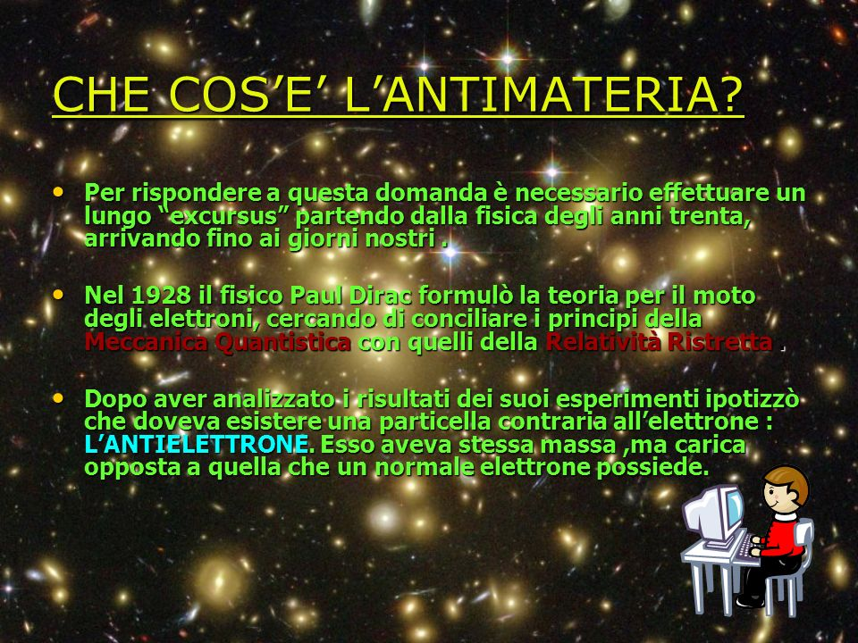 CHE COS'E' L'ANTIMATERIA