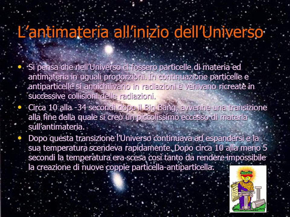 L'antimateria all'inizio dell'Universo