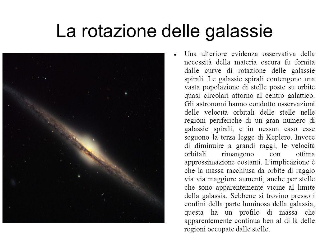 La rotazione delle galassie