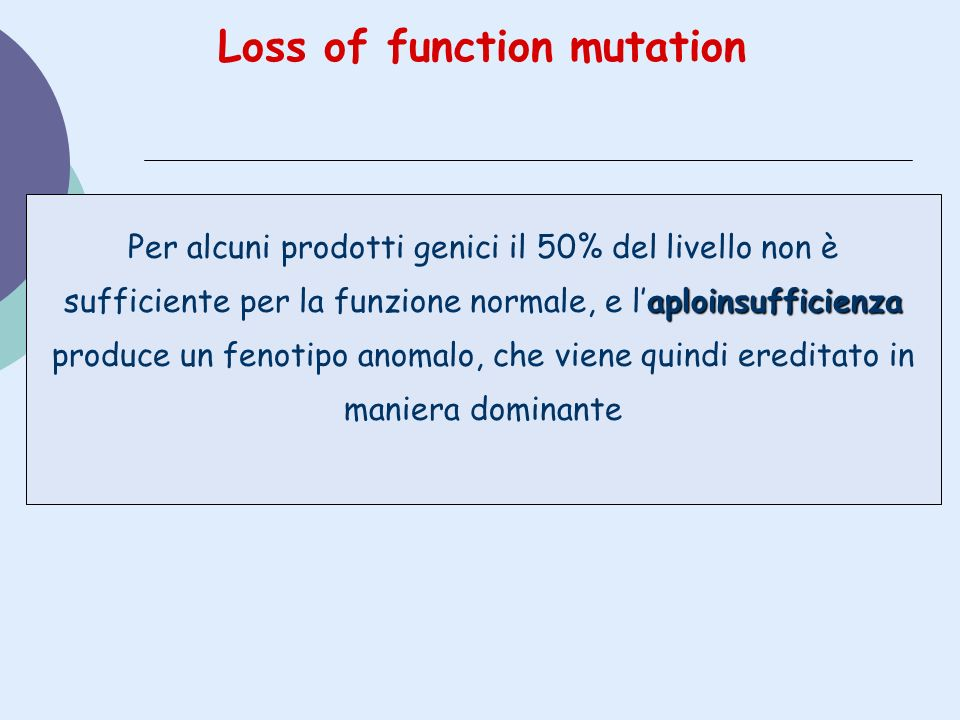 Loss of function mutation