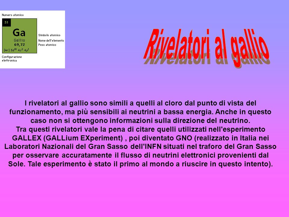 Rivelatori al gallio