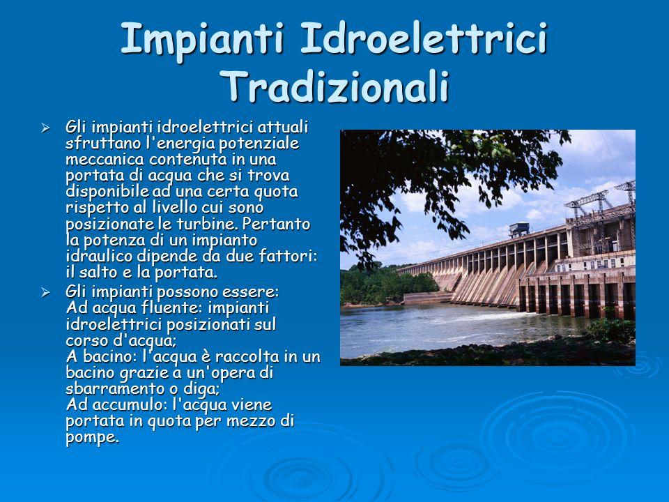 Impianti Idroelettrici Tradizionali