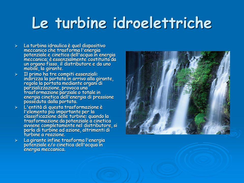 Le turbine idroelettriche