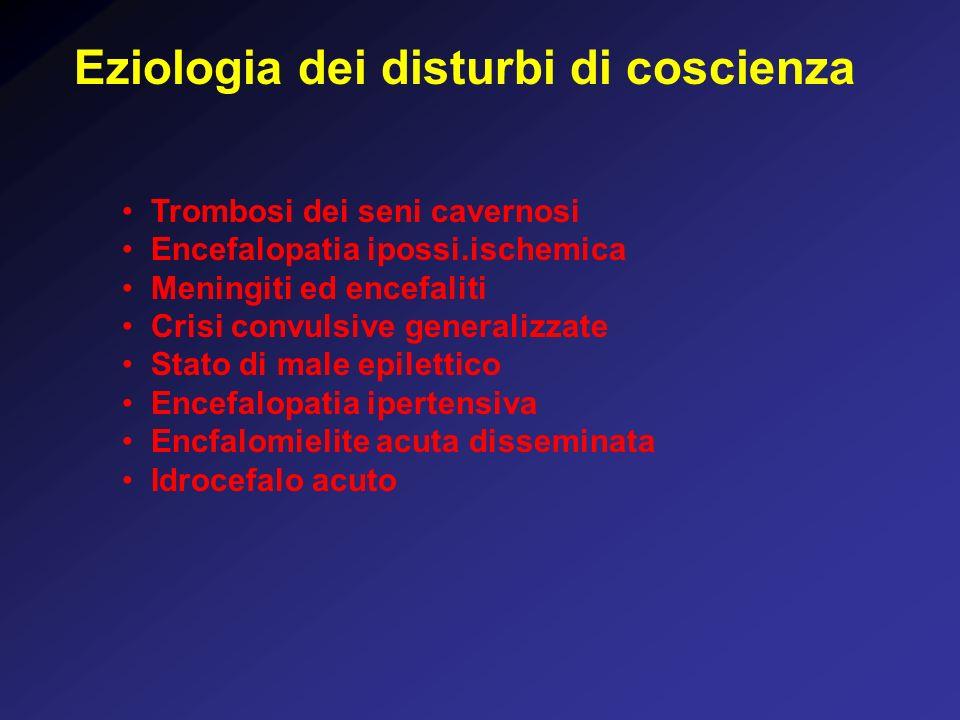Eziologia dei disturbi di coscienza
