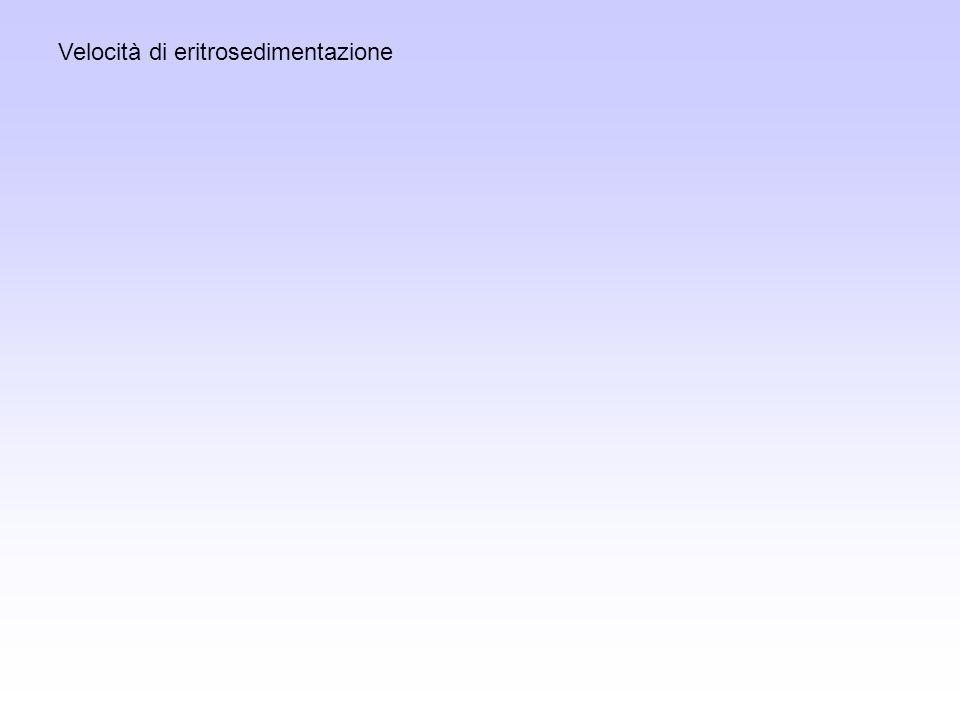 Velocità di eritrosedimentazione