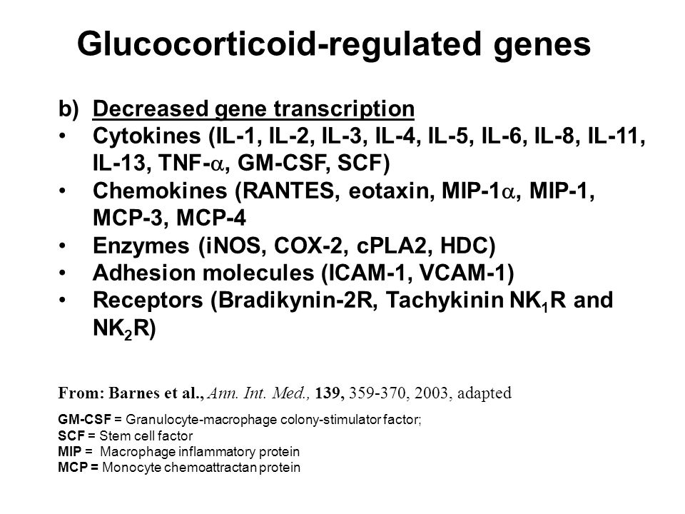 Glucocorticoid-regulated genes
