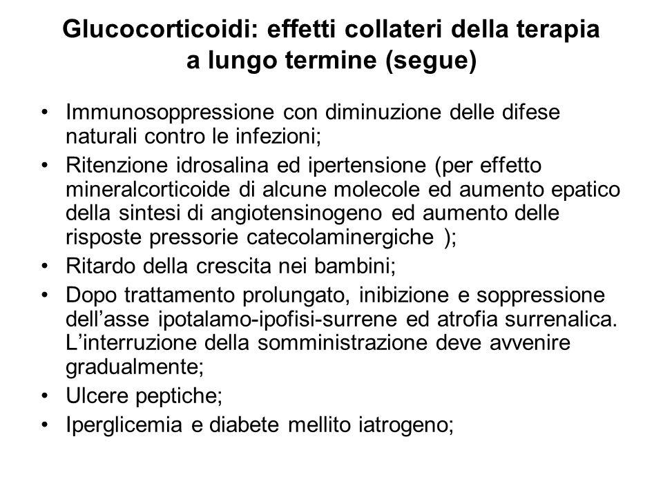 Glucocorticoidi: effetti collateri della terapia a lungo termine (segue)