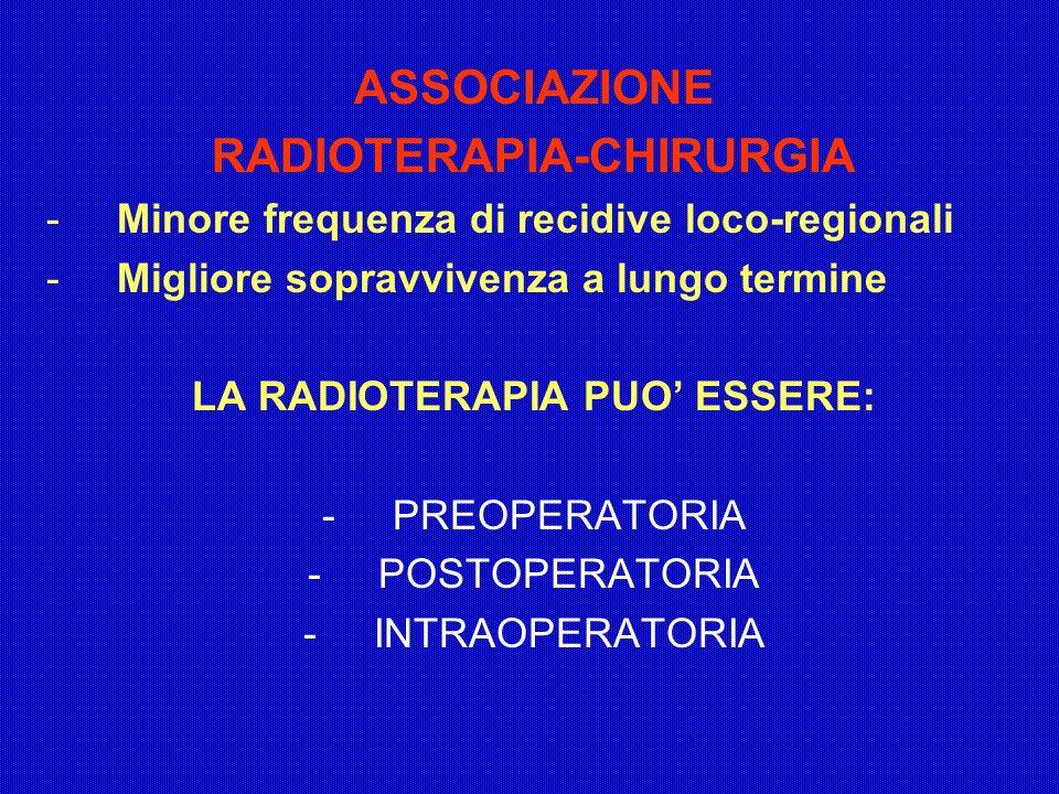 RADIOTERAPIA-CHIRURGIA LA RADIOTERAPIA PUO' ESSERE: