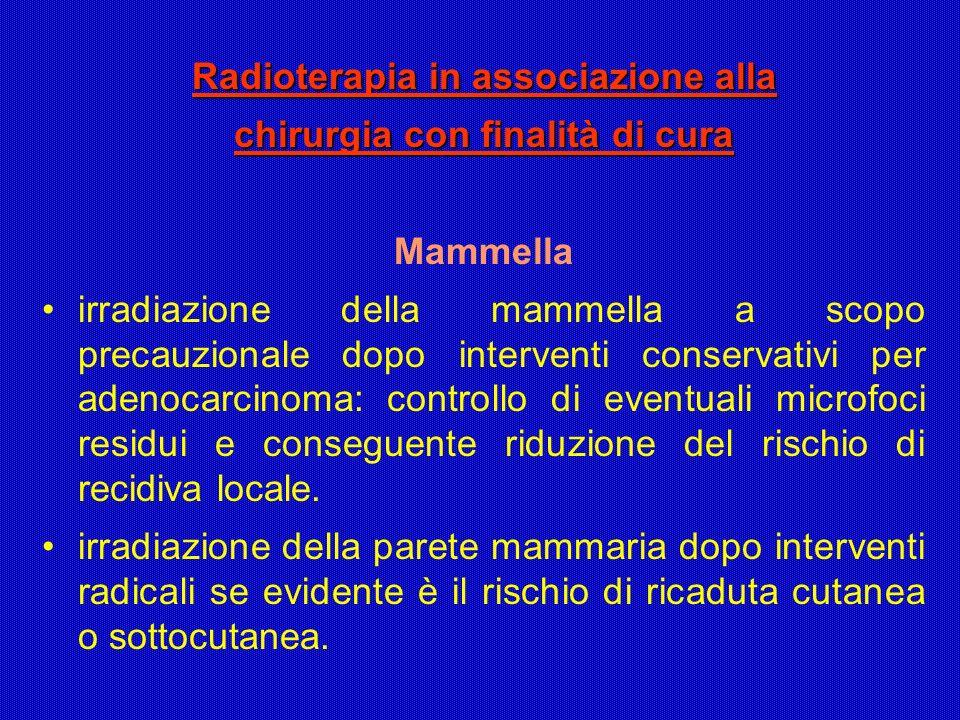 Radioterapia in associazione alla chirurgia con finalità di cura