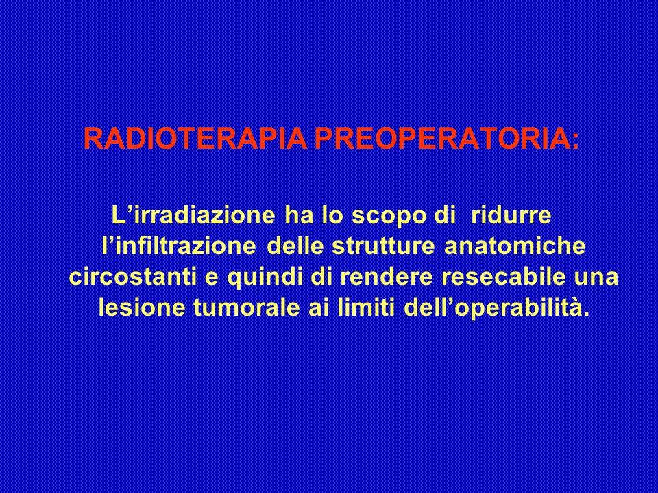 RADIOTERAPIA PREOPERATORIA: