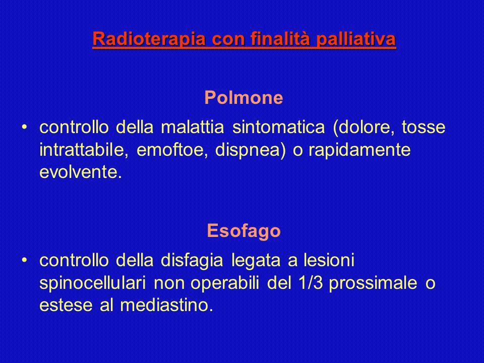 Radioterapia con finalità palliativa
