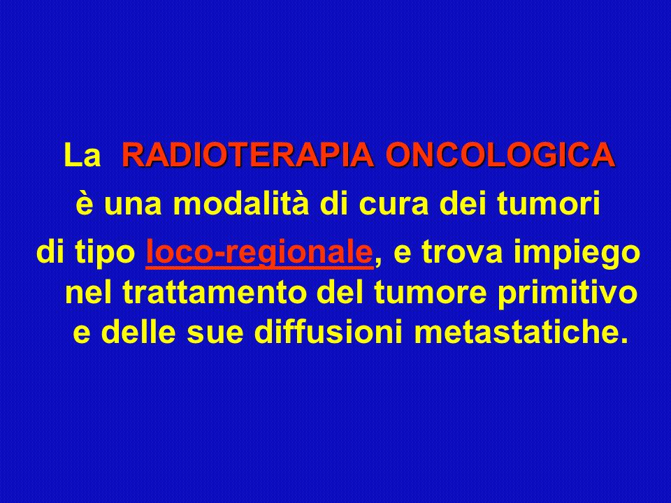 La RADIOTERAPIA ONCOLOGICA è una modalità di cura dei tumori