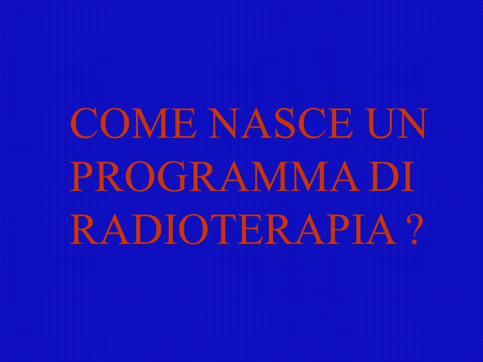 COME NASCE UN PROGRAMMA DI RADIOTERAPIA