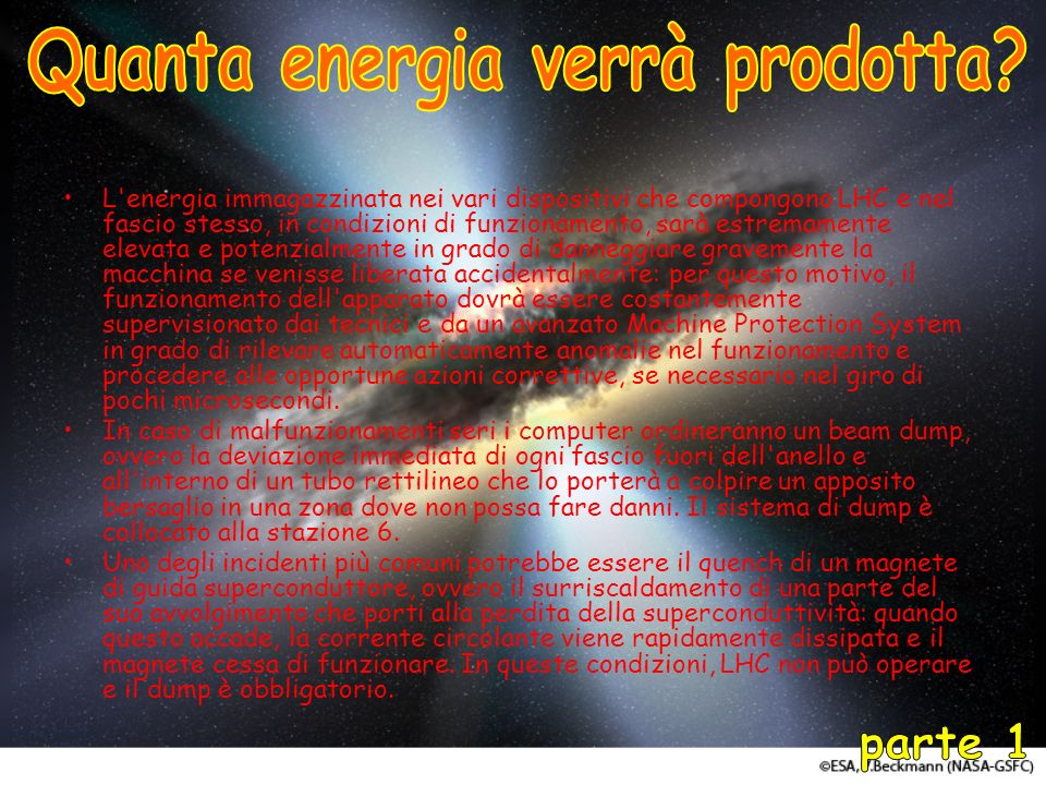 Quanta energia verrà prodotta