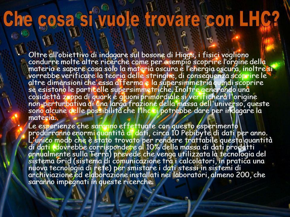 Che cosa si vuole trovare con LHC