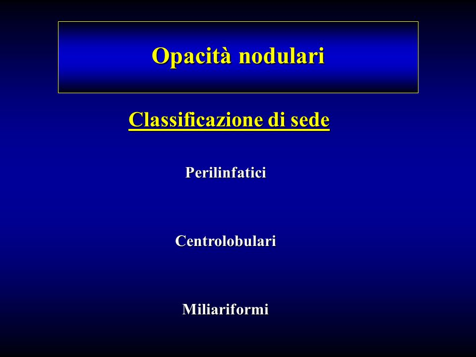 Classificazione di sede