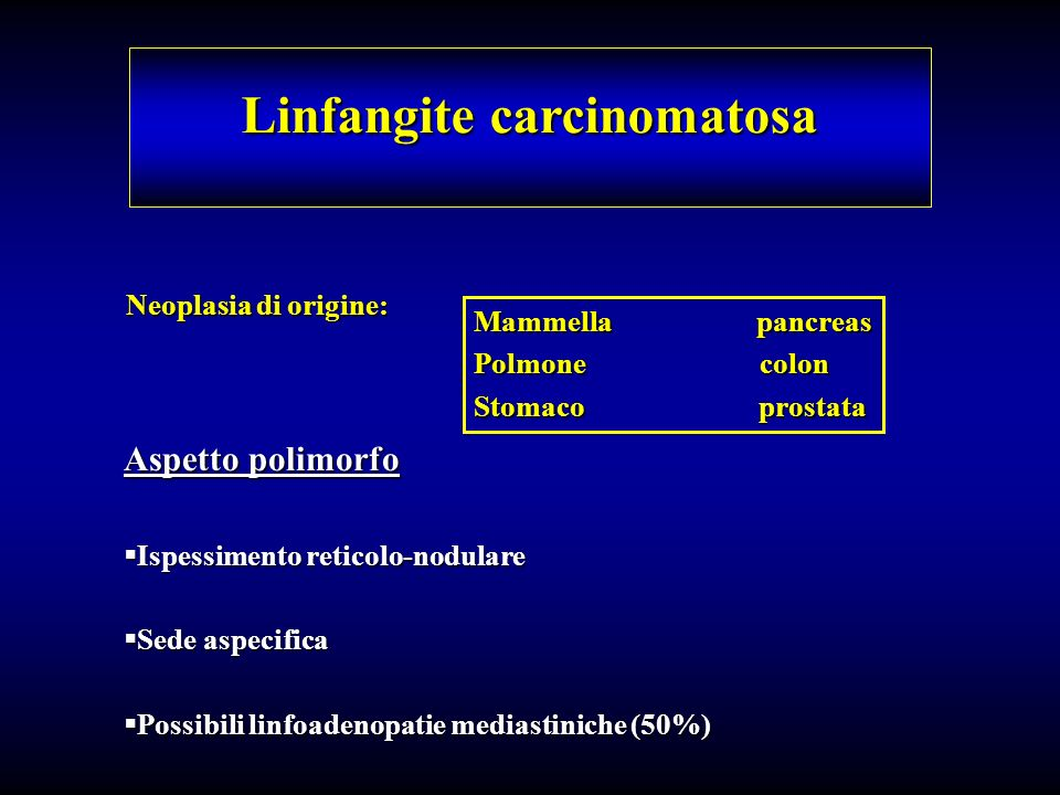 Linfangite carcinomatosa
