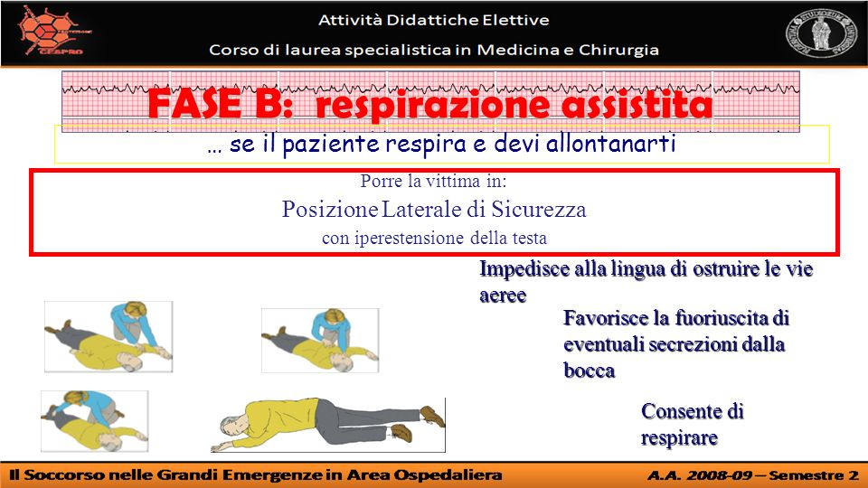 FASE B: respirazione assistita