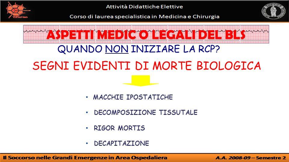 ASPETTI MEDIC O LEGALI DEL BLS